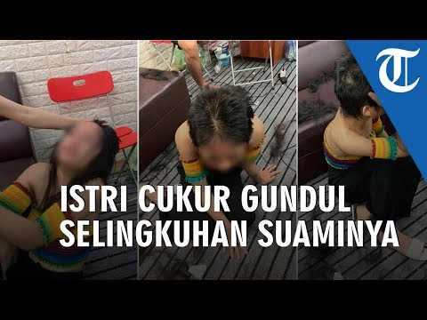 Video Istri Pergoki Suami Lagi Dipijat Tanpa Busana Oleh Pegawai Di Salonnya, Langsung Cukur Gundul