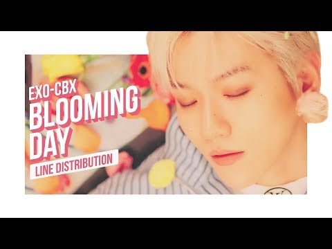 EXO-CBX - Blooming Day Line Distribution (Color Coded) | 첸백시 - 花요일