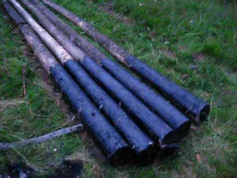 Как защитить деревянные столбы от гниения. Деревянный 20