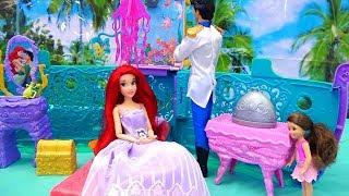 Princesas Disney Ariel - A Pequena Sereia Royal Navio de Cruzeiro -Brinquedonovelinhas com bonecas