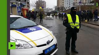Ukraine : la police bloque l'accès du consulat russe à Odessa le jour de la présidentielle russe