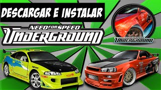 Descargar e Instalar **Need For Speed Underground 1** .ISO