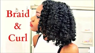 Natural Hair Braid-Out and Rod Set On 4a/4b Hair + Edgy Date Night Look
