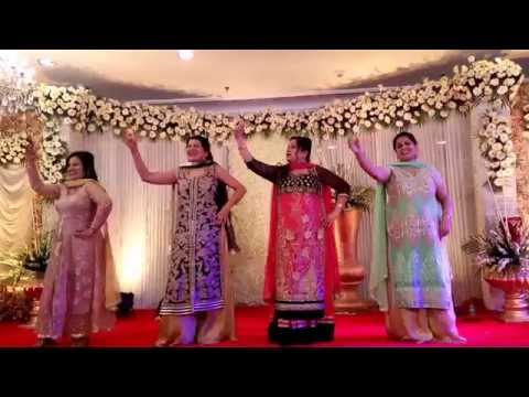 Indian wedding dance performance by ladies