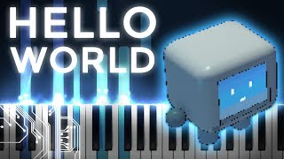 louie zong · hello world | LyricWulf Piano Tutorial on Synthesia