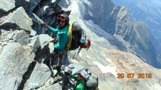 Mont Blanc Gouter route SLOBODNI PENJACI CETINJE  avgust 2015