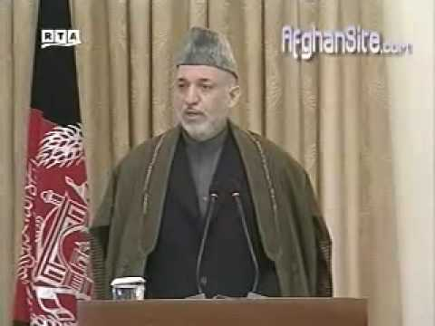 Karzai reviews Obama's new WAR strategy in Afghanistan part 1