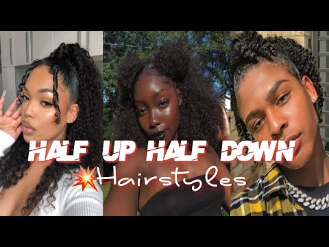 Half Up Half Down Natural Hairstyles l  l  BlckoVybz 🤍