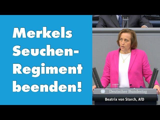 Beatrix von Storch (AfD) - Merkels Seuchen-Regiment beenden!