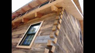 Outside Walk Threw Of  Log Cabin Built By Patriot Log Home Builders Of Wisconsin