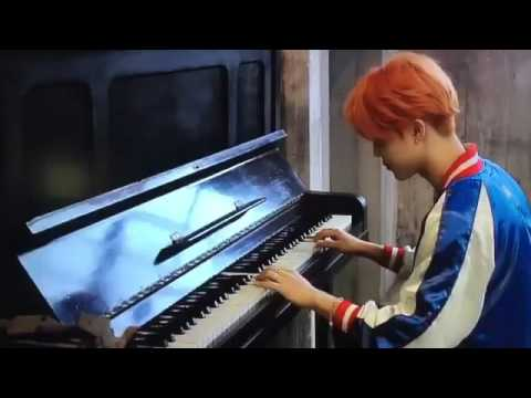방탄소년단 (BTS): RUN Japanese ver. MV behind the scenes: Jimin playing piano 'wedding dress' by Taeyang