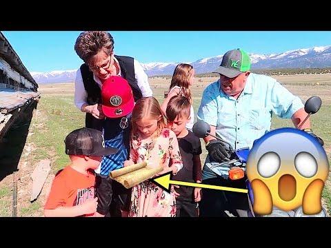 KIDS FIND REAL TREASURE MAP AT THE FARM!! TREASURE HUNT ADVENTURE!!