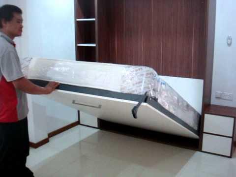 Hidden Bed Concept Design Queen Size Hwb V1530 With Side Shelves