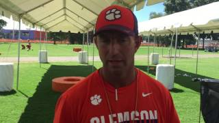 TigerNet.com - Dabo Swinney practice comments - 8.15.2016