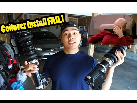 How NOT to Install BC Racing Coilovers! | 06' Civic Si Build