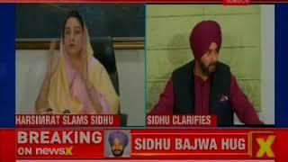 Harsimrat Kaur Badal slams Navjot Singh Sidhu for hugging Bajwa in Pakistan, Sidhu clarifies