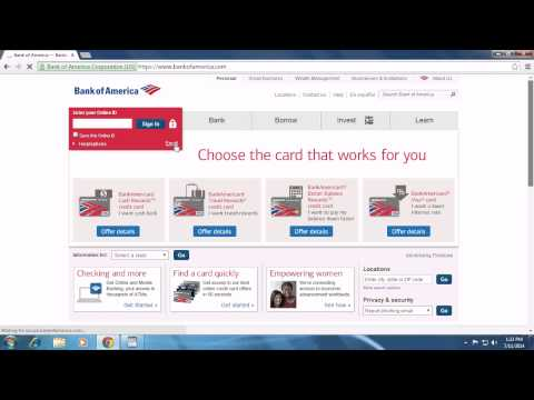 Bank Of America Sign Up And Registration | Create New Bank Of America Account 2014