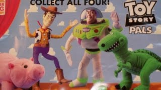 1995 BURGER KING DISNEY TOY STORY PALS HAND PUPPETS SET OF 4 PROMOTIONAL MOVIE TOY'S VIDEO REVIEW
