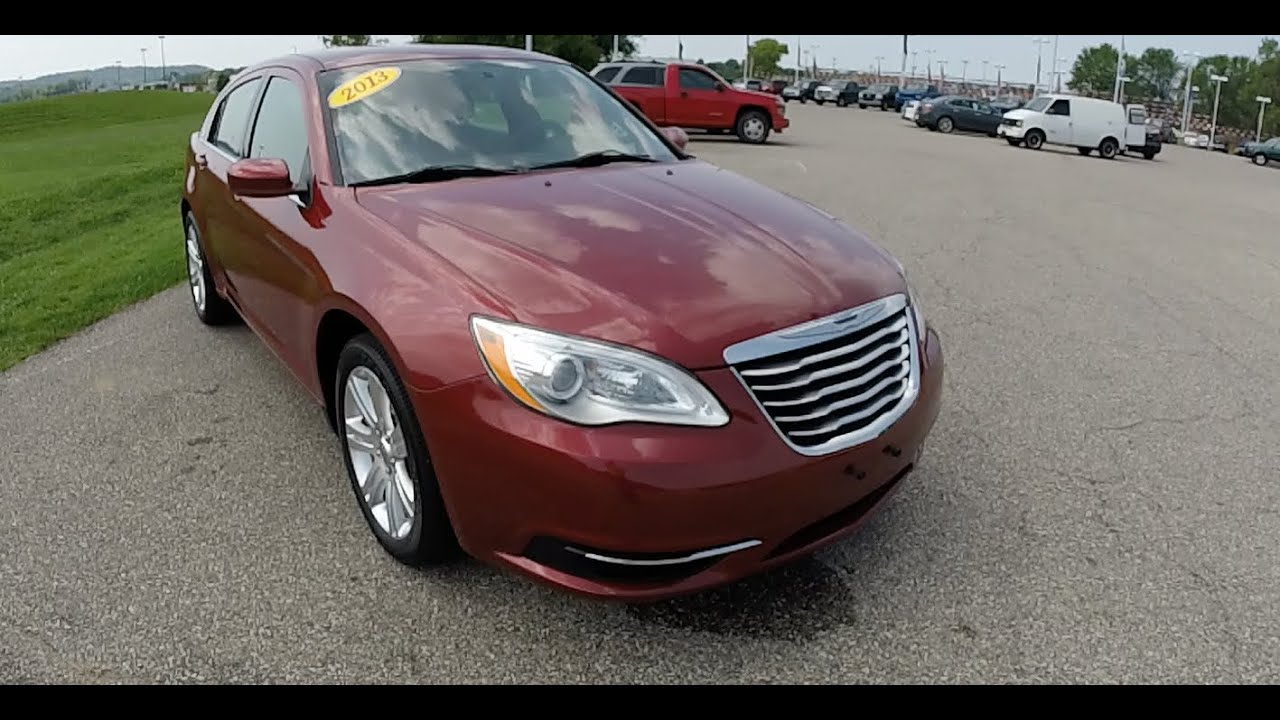 2013 Chrysler 200 Lx Red Great Gas Mileage Indianapolis In