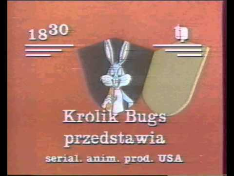 Plakat Królik Bugs przedstawia