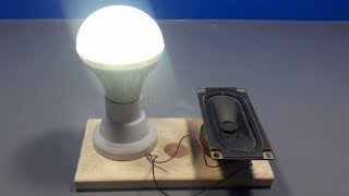 how to make free energy light bulb using speaker magnet | science projects