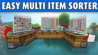 Minecraft Easy Multi Item Sorter: Expandable, Full Auto 1.17 Tutorial [Java]