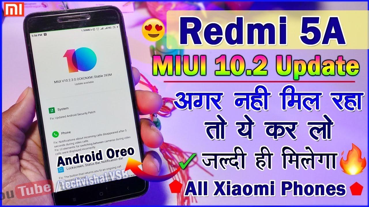 Redmi 5A Miui 10 9 4 11 For Xiaomi EU Rom - Face Unlock