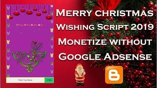 Merry christmas whatsapp Wishing Script 2019 Monetize without Google Adsense