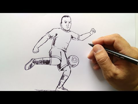 Cara Menggambar Pemain Sepakbola Youtube