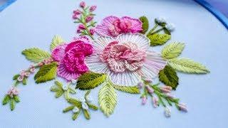 Flower embroidery: flower stitch  #malina_gm