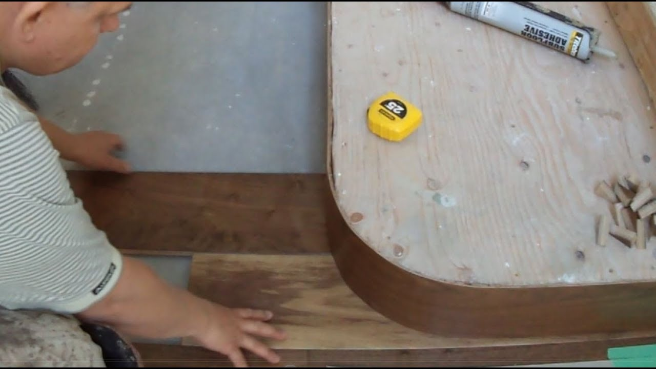 Installing Hardwood Flooring On Concrete Around Curved