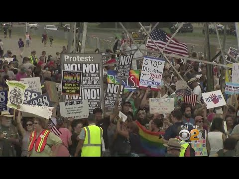 Protesters Rally Against Trump On LI