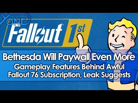 Bethseda Will Paywall Even More Gameplay Features Behind Fallout 76 Subscription, Leak Suggests