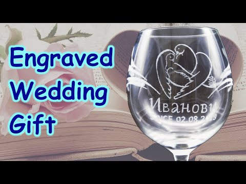 Wedding Glass Engraving With a Dremel Tool | Make Gift