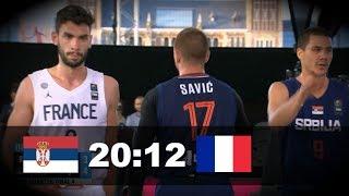 Srbija - Francuska 20:12   Basket 3x3 Ceo meč   Četvrtfinale Svetskog Prvenstva