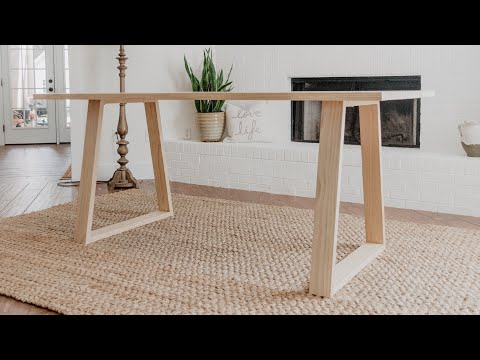 DIY Modern Dining Table | Woodbrew