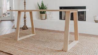 DIY Modern Dining Table | Woodbrew