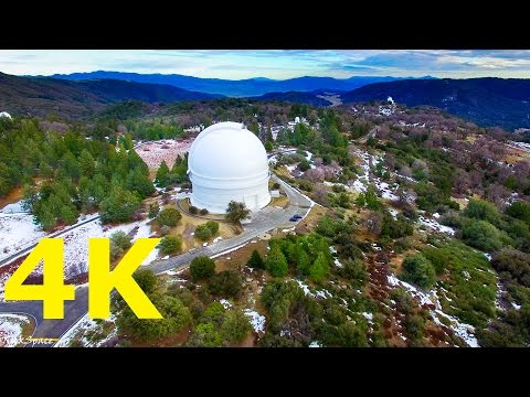 Cinematic Great view of Mesa Rock, Palomar Observatory mountains in 4K Video UHD