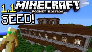 MCPE 1.1 Woodland Mansion seed! (Minecraft PE 1.1 Woodland Mansion seed gameplay!)