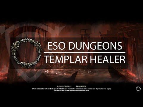 ESO Dungeon - Veteran Blessed Crucible HM (Templar Healer)