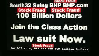BHP 100 Billion Dollars Stock Fraud class action #south_32 lawsuit