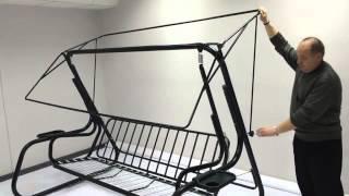 Садовые качели Торнадо механизм регулировки крыши