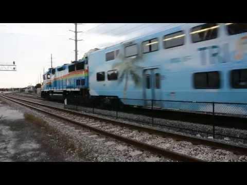 Tri Rail commuter train - West Palm Beach station, Florida [Nikon D7100]