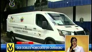 Dos dobles homicidios se registraron en Carabobo