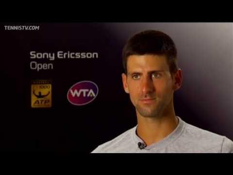 Novak Djokovic Interview At Sony Ericsson Open 2012