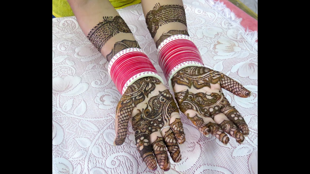 New Beautiful Bangle Style Full Hand Henna Mehndi Designs By Jyoti Sachdeva . - YouTube