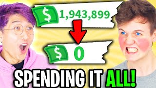 Can We SPEND ALL OUR MONEY In ADOPT ME!? ($20,000 BUCKS SPENT!)