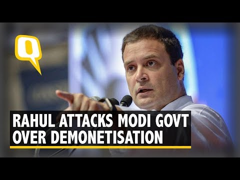 Congress President Rahul Gandhi Addresses Media on Demonetisation