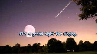 Its a grand night for singing (karaoke) home made clip