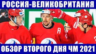 Хоккей ЧМ 2021 Россия Великобритания Обзор шести матчей второго дня на чемпионате мира по хоккею